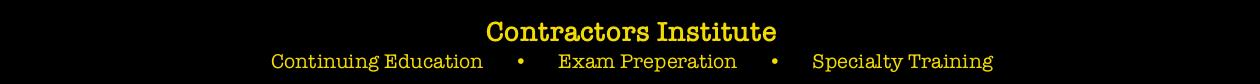 Contractors Institute